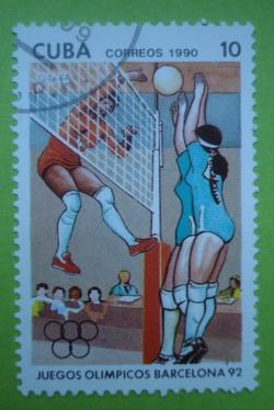 Image #1 of 10 Centavos - Olimpiada de Vara Barselona 1992 - Volei