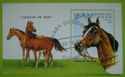 Image #1 of 150 Pesetas 1993 - Arabian horse (Souvenir sheet)