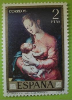 Image #1 of 2 Pesetas - Luis de Morales - Virgin and the child