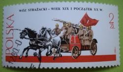 Image #1 of 2 Złote 1980 - Horse-drawn Fire Engine