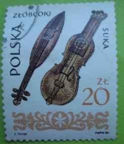 Image #1 of 20 Zlotych 1985 - Wooden Fiddles