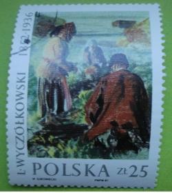 Image #1 of 25 Zlotych - Leon Wyczolkowski (1852-1936) - Harvesting Beetroot, 1910