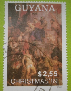 Image #1 of 2.55 Dollars - Rubens : Madonna on Throne surrounded by Saints
