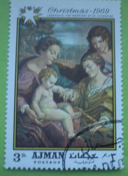 Image #1 of 3 Dirhams 1969 - Correggio - Logodna mistică a Sfintei Ecaterina