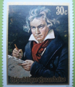 Image #1 of 30 Cenți 1971 - L. van Beethoven (K. J. Stieler)