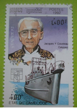 Image #1 of 400 Riels - Jacques Yves Cousteau - Calypso