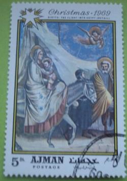 Image #1 of 5 Dirhams 1969 - Giotto - Fuga în Egipt