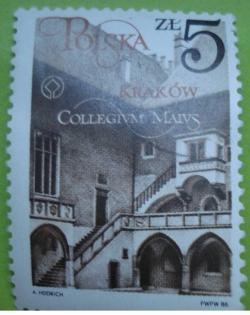 Imaginea #1 a 5 Złotych 1986 - Collegium Maius, Cracovia