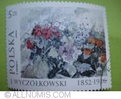 Image #1 of 5 Zlotych - Leon Wyczolkowski (1852-1936) - Cineraria Flowers, 1924