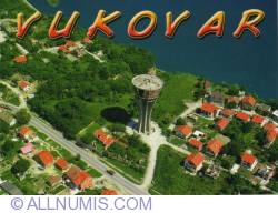Vukovar - Aerial city view, the water tower