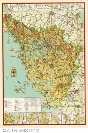 Map Of Toscana Toscana Italy Postcard 2050