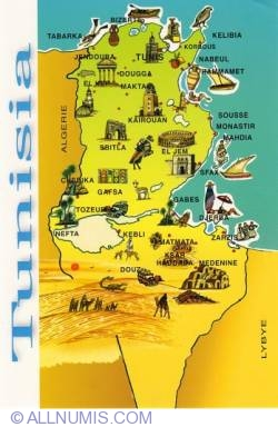 Image #1 of Map of Tunisia