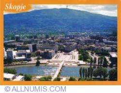 Skopje city view