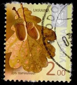 Image #1 of 2 Hryvnia 2012 - Flora - Trees - Quercus robur