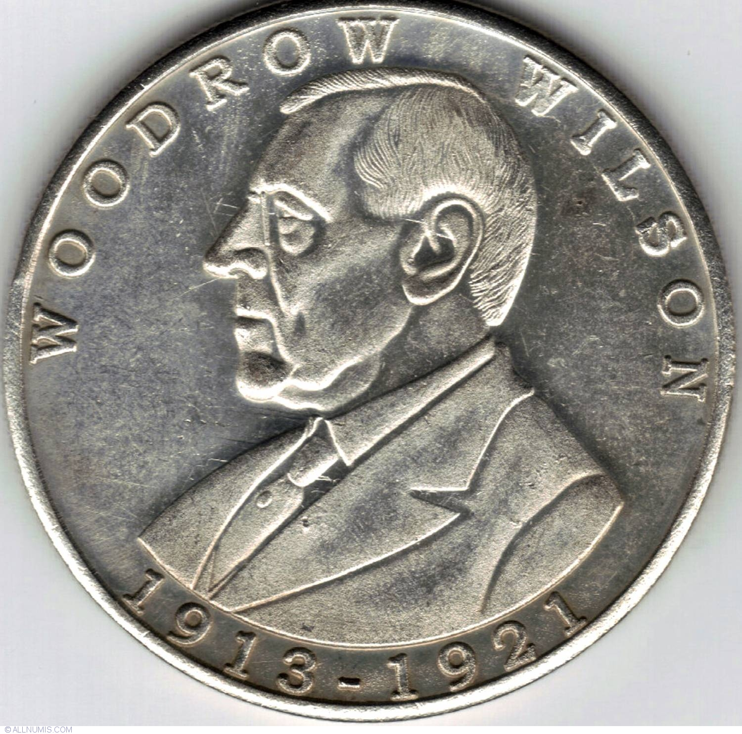 Woodrow Wilson Fantasy Token United States Of America