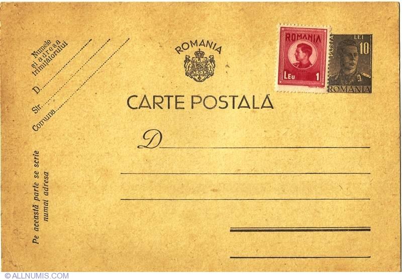 Carte Postala Regele Mihai Misc Romania Postcard 3284