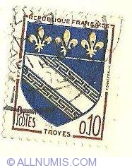 Image #1 of 0.10 Fr Troyes, Coat of Arms 1963