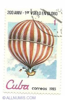 Image #1 of 1¢ 1983 - 200 aniv - 1 vuelo en globo
