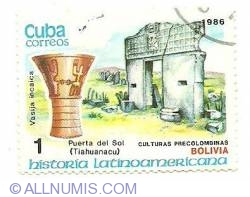 Image #1 of 1 centavo 1986 - vasija incaica
