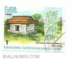 Image #1 of 1 centavo 1986 - vivienda tipica maya