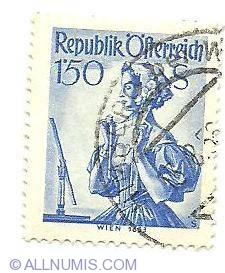 Image #1 of 1,50 Schilling  Wien 1653 1951