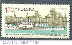 1.50 zl 1979 - 150 lat żeglugi parowej na Wiśle - Gen(erał) Swierczewski - 1914