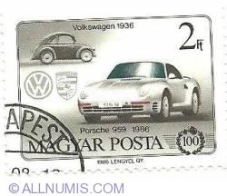 Imaginea #1 a 2 Forint 1986 -Volkswagen 1936 and Porsche 959