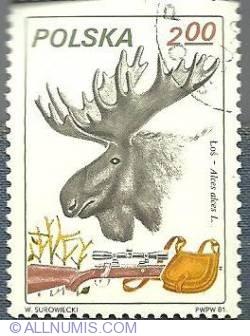 2 zl-Eurasian elk-1981