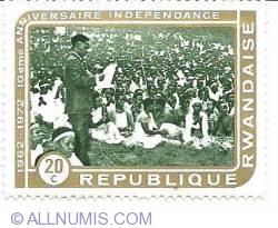 Image #1 of 20 c 1972 - anniversaire independance