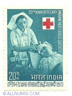 20 P 1970 - Indian Red Cross Society