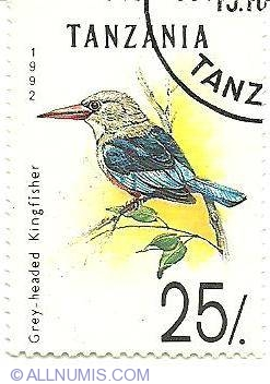 Image #1 of 25 Shillings 1992 - Grey-headed kingfisher