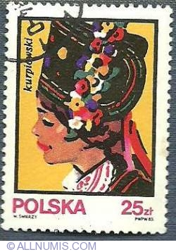 25 Zloty - Kurpiowski - Traditional Hats -1983