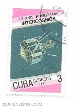 Image #1 of 3¢ 1987 - Intercosmos