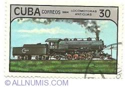 Image #1 of 30 centavos 1984 - locomotoras antiguas