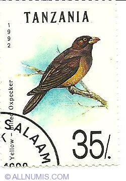 Image #1 of 35 Shillings 1992 - Yellow bilied oxpecker