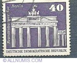 40 pfennig - Berlin - Poarta Brandenburg