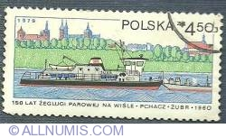 Image #1 of 4.50 zl 1979 - 150 years navigation on the Vistula river - Zubr