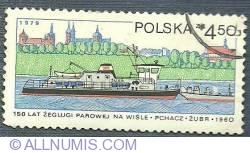 4.50 zl 1979 - 150 de ani de navigatie pe Vistula - Zubr