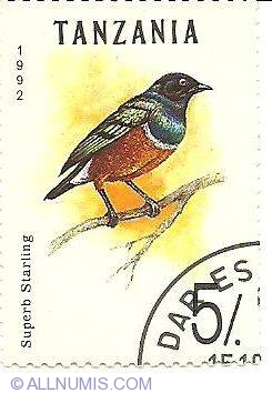 Image #1 of 5 Shillings 1992 - Superb Starling
