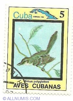 Image #1 of 5 centavos 1983 - Mimus polyglottos