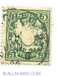 5 Pfennig Bayern 1950 1959 Generic Germany Stamp 2480