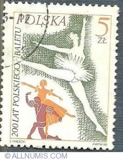 Image #1 of 5 Złotych 1985 - Polish Ballet, 200th Anniv.