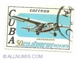 Image #1 of 50¢ 1979 - Cubana 50th anniversary