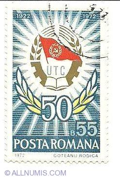 Imaginea #1 a 55 bani 1972 - Utc 1922-1972