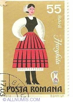 Imaginea #1 a 55 Bani 1973 - Costume naționale - Harghita