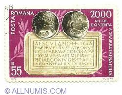 55 bani 1975 - 2000 de ani de existenta a orasului alba iulia