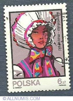 6 Zloty - Traditional Hats - Warminsko-Mazurski