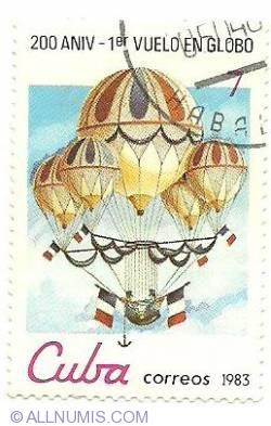 Image #1 of 7¢ 1983 - 200 aniv - 1 vuelo en globo