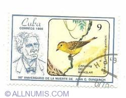 Image #1 of 9 centavos 1986 - Canario del manglar