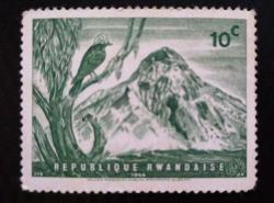 Image #1 of 10 Cents 1966 - Helmetshrike Bird Volcano